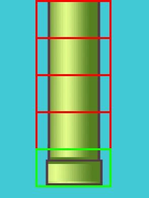 Construction d'un tuyau avec des morceaux